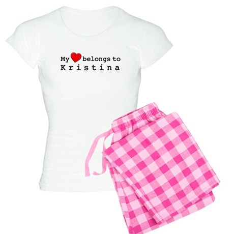 My Heart Belongs To Kristina Women's Light Pajamas