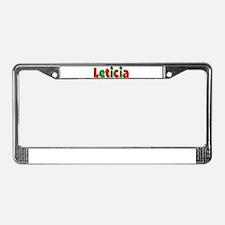Leticia Christmas License Plate Frame