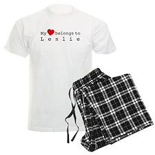 My Heart Belongs To Leslie Pajamas