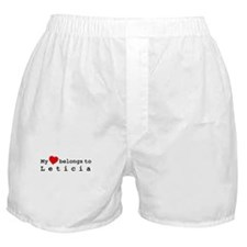 My Heart Belongs To Leticia Boxer Shorts