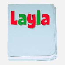 Layla Christmas baby blanket