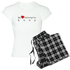 My Heart Belongs To Lucy Pajamas