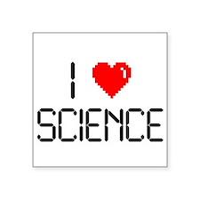 "I love science Square Sticker 3"" x 3"""