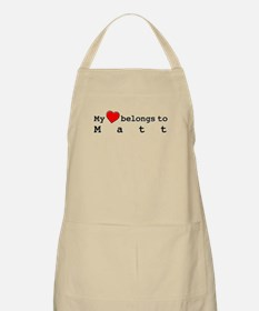 My Heart Belongs To Matt Apron