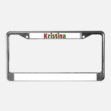 Kristina Christmas License Plate Frame