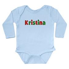 Kristina Christmas Long Sleeve Infant Bodysuit