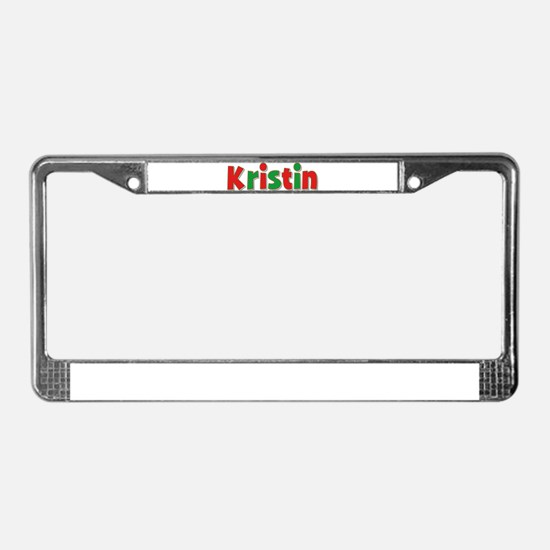 Kristin Christmas License Plate Frame