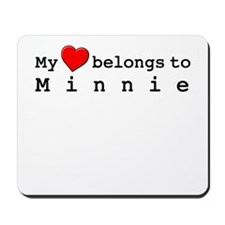 My Heart Belongs To Minnie Mousepad