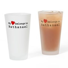 My Heart Belongs To Nathanael Drinking Glass