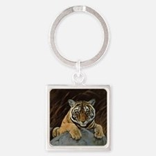 bengal300cp copy.jpg Square Keychain