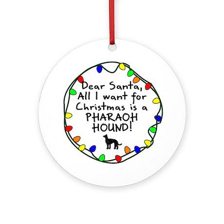 Dear Santa Pharaoh Hound Christmas Ornament