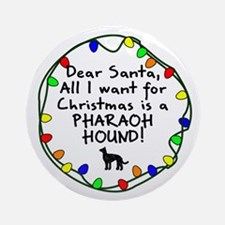 Dear Santa Pharaoh Hound Christmas Ornament