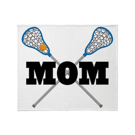 Lacrosse Mom Throw Blanket