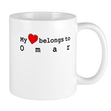 My Heart Belongs To Omar Small Mug