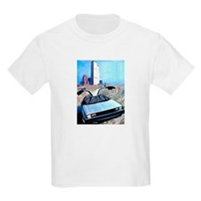 Delorean DMC 12 Gull Wings Up Twin Towers WTC T-Shirt
