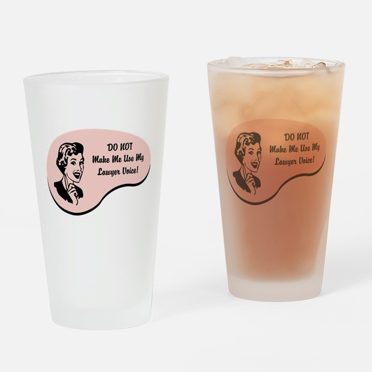 Cute Funny lawyer Drinking Glass