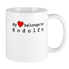 My Heart Belongs To Rodolfo Small Mug