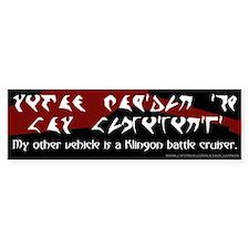 Klingon Battle Cruiser (1) Bumper Bumper Sticker