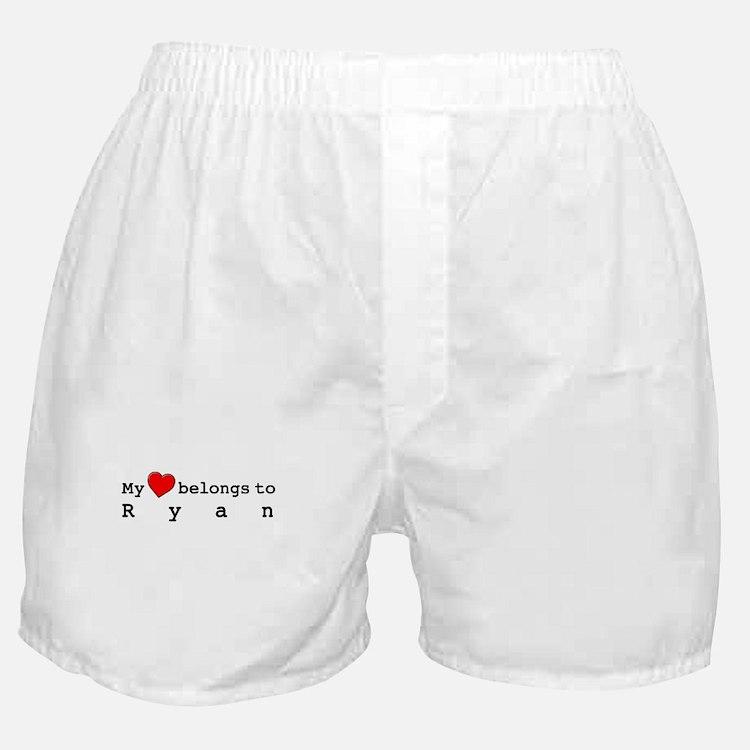 My Heart Belongs To Ryan Boxer Shorts