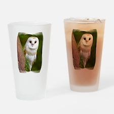 Cute Owl flight Drinking Glass