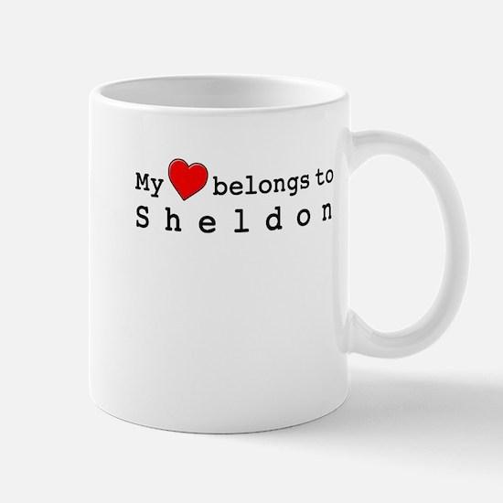 My Heart Belongs To Sheldon Mug