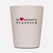 My Heart Belongs To Stanford Shot Glass