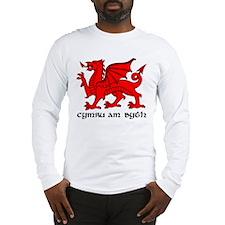 dragon_red_cymru_am_byth_slogan Long Sleeve T-Shir