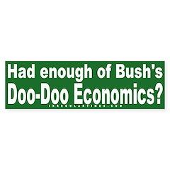 Doo-Doo Economics Bumper Bumper Sticker
