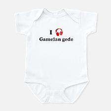 Gamelan gede music Infant Bodysuit