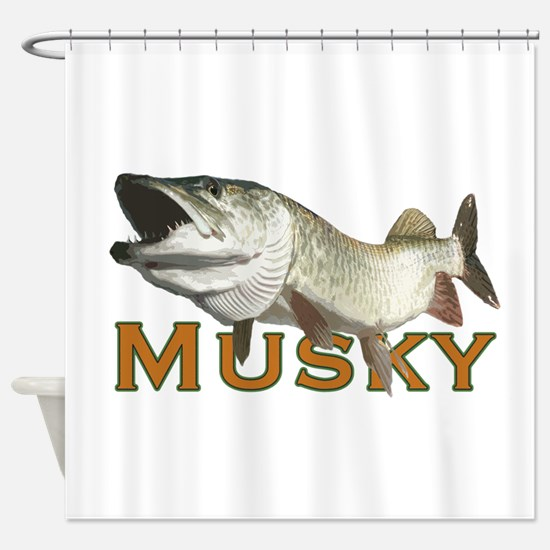 Monster Musky Shower Curtain