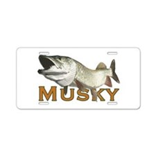 Monster Musky Aluminum License Plate