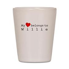 My Heart Belongs To Willie Shot Glass