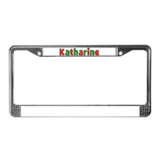 Katharine Christmas License Plate Frame
