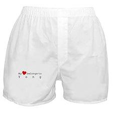 My Heart Belongs To Yong Boxer Shorts