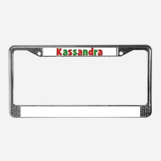 Kassandra Christmas License Plate Frame
