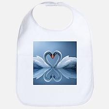 Swan Heart Bib