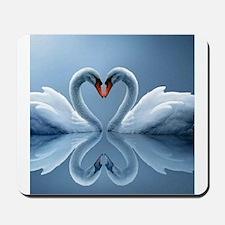 Swan Heart Mousepad