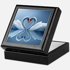 Swan Heart Keepsake Box