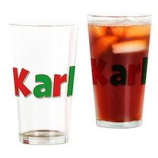 Karl Christmas Drinking Glass