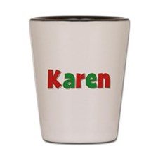 Karen Christmas Shot Glass