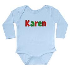 Karen Christmas Long Sleeve Infant Bodysuit