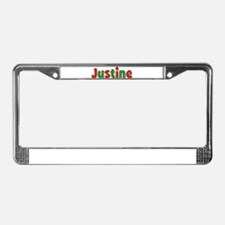 Justine Christmas License Plate Frame