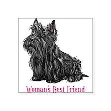 Woman's Best Friend Scottie Rectangle Sticker