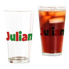 Julian Christmas Drinking Glass
