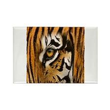 tiger eye art illustration Rectangle Magnet
