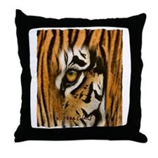 tiger eye art illustration Throw Pillow