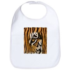 tiger eye art illustration Bib