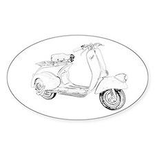 1949 Piaggio Vespa scooter Decal