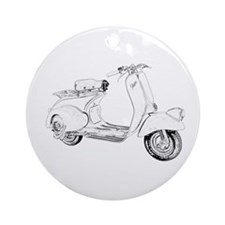 1949 Piaggio Vespa scooter Ornament (Round)