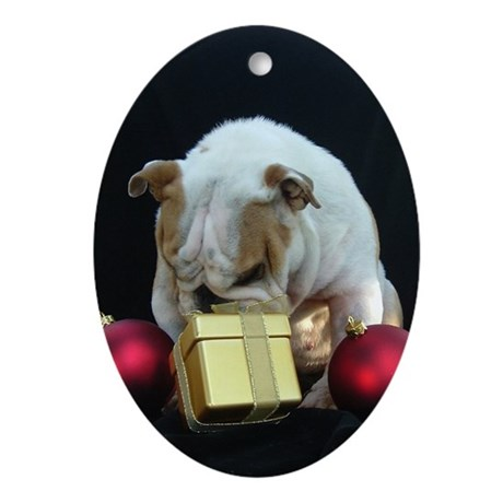 Norma's Don't Open Until Xmas Oval Ornament